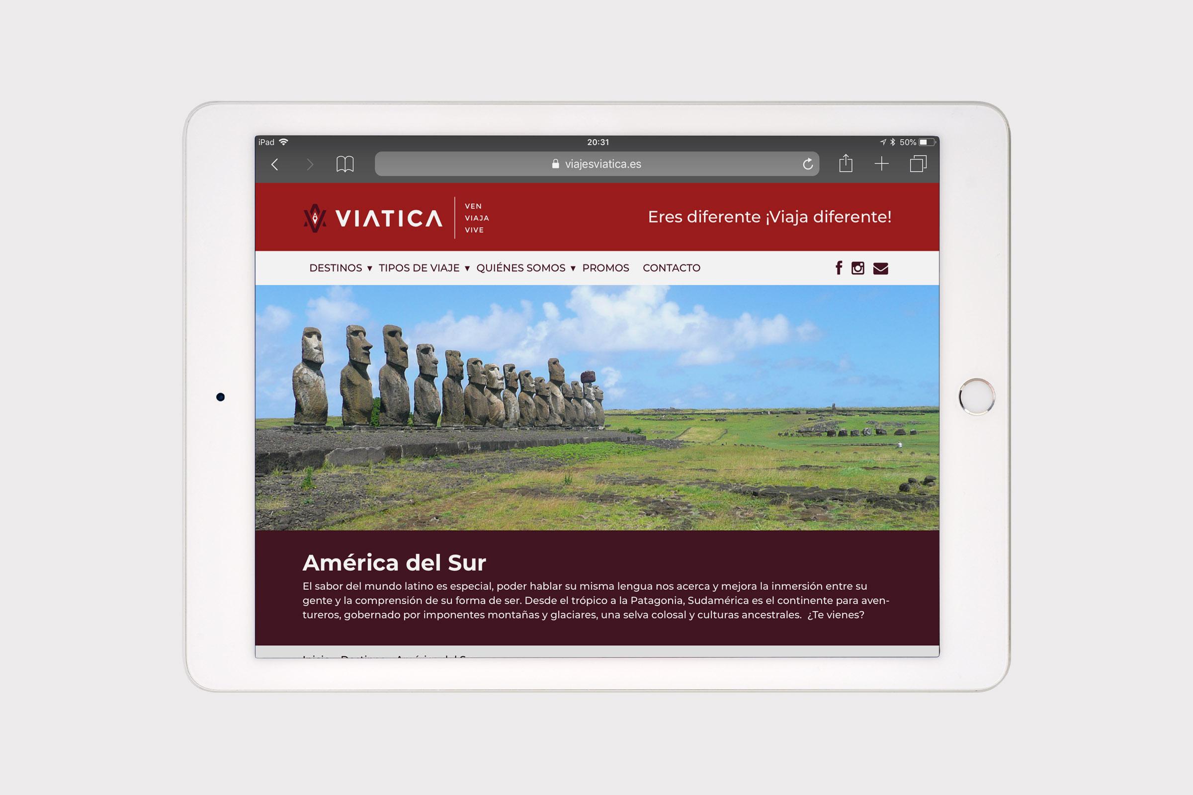Diseño y programación web Viajes Viatica