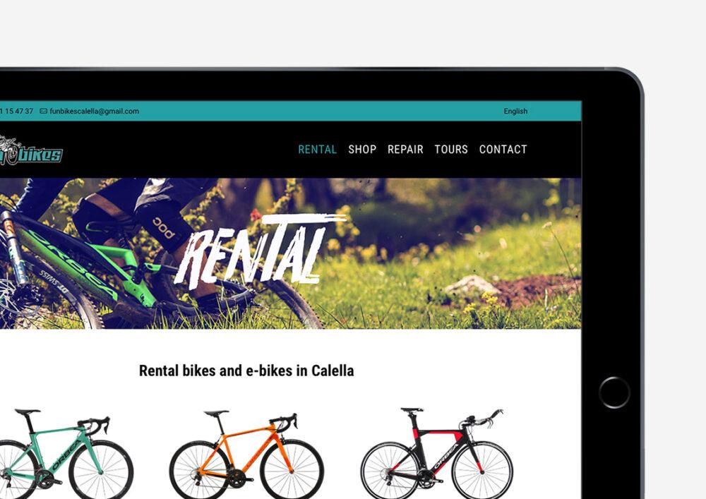 Diseño web Funbikes Calella