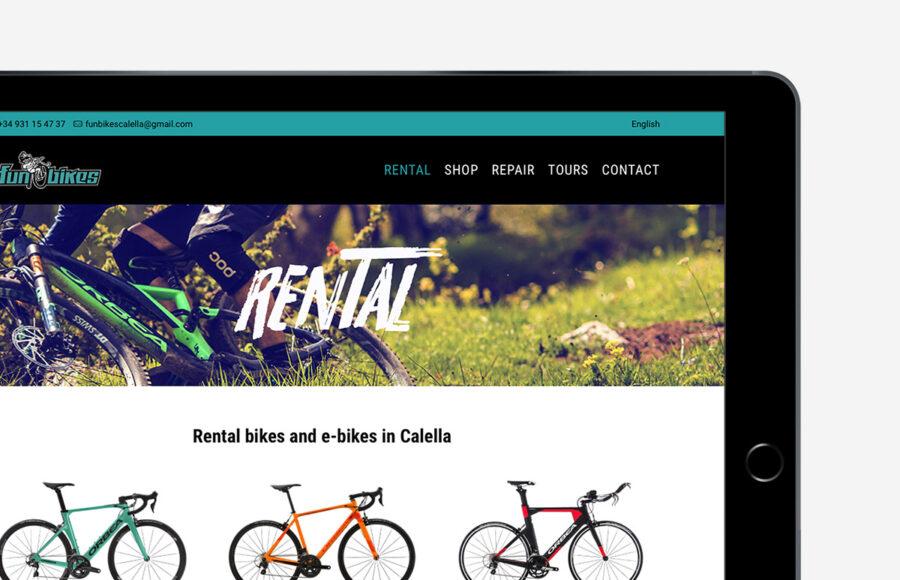 Diseño y desarrollo web para Funbikes Calella