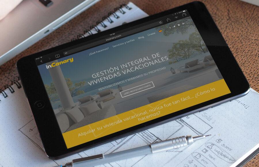 Diseño y desarrollo página web InCanary