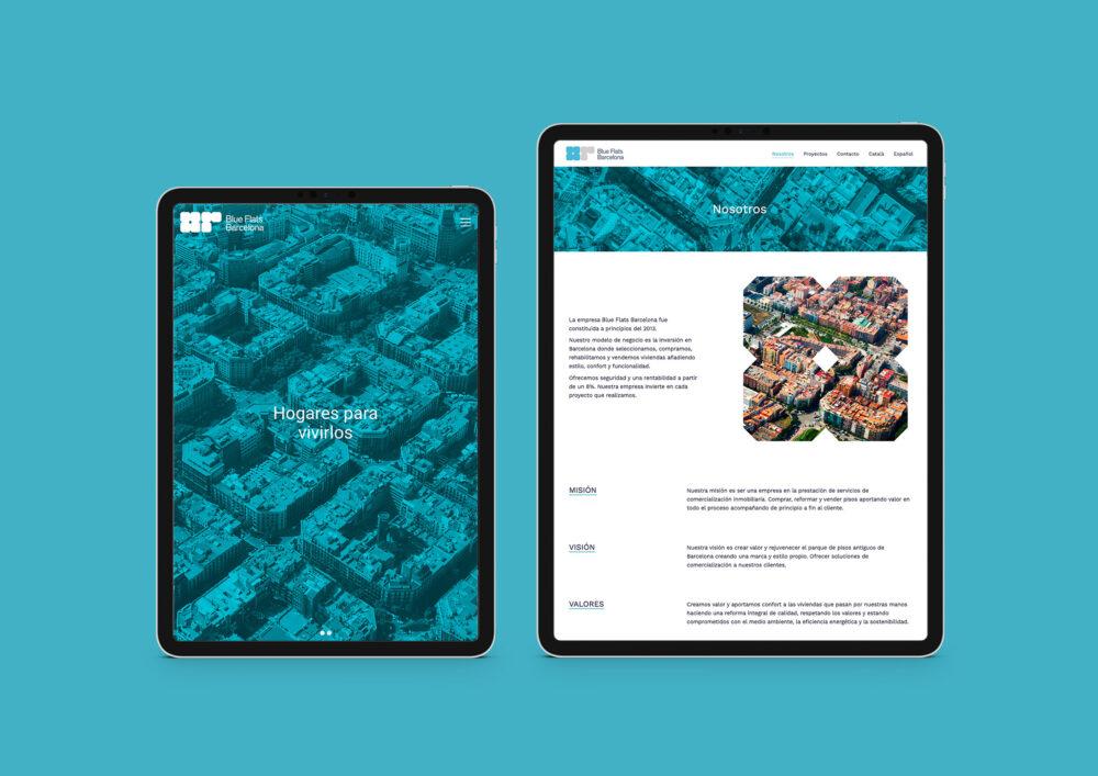 Diseño página web Blue Flats Barcelona